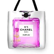 Chanel N 5 Perfume Print Tote Bag