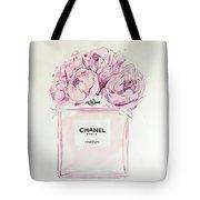 Chanel Peonies Tote Bag