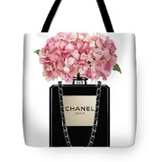 af5c7f172730e6 Chanel Perfume Bag With Pink Hydrangea 2 Shower Curtain for Sale by ...
