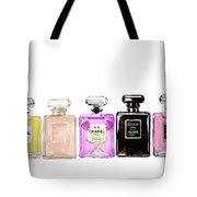 Chanel Perfume Print Set Chanel Poster Tote Bag