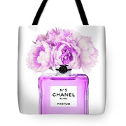 Chanel Print Chanel Poster Chanel Peony Flower Tote Bag