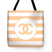 Chanel - Stripe Pattern - Beige - Fashion And Lifestyle Tote Bag