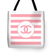 Chanel - Stripe Pattern - Pink - Fashion And Lifestyle Tote Bag