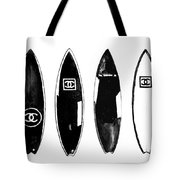 Chanel Surfboard  Black And White Tote Bag