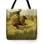Change Of Ownership -the Stampede Horse Thieves Tote Bag