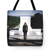 Changing Of The Guard At The Tomb Of The Unknowns At Arlington Tote Bag