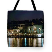Chania By Night  Tote Bag