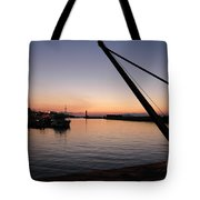 Chania Harbour Tote Bag