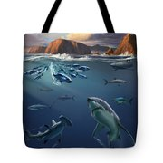 Channel Islands Sharks Tote Bag