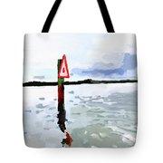 Channel Marker, Banana River, Merritt Island, Fl Tote Bag