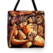 Chaos After The News Tote Bag