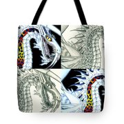 Chaos Dragon Fact W Fiction Tote Bag