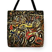 Chaos On The Track Tote Bag