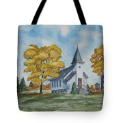 Chapel In Fall Tote Bag