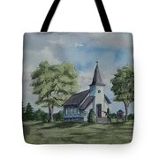 Chapel In Summer Tote Bag
