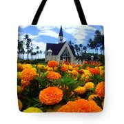 Chapel In The Sky Tote Bag