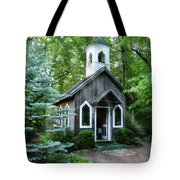Chapel In The Woods Tote Bag