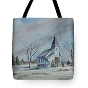Chapel In Winter Tote Bag