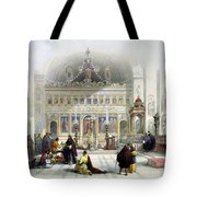 Chapel Of The Convent Of St Saba Tote Bag