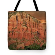 Chapel Of The Holy Cross At Sunset Tote Bag