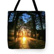 Chapel Sunset Tote Bag