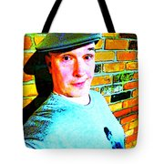 Chaplin And Me Tote Bag by Guy Ricketts