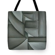 Charcoal Abstract Tote Bag