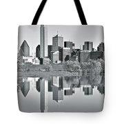 Charcoal Big D Reflection Tote Bag