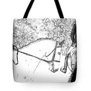 Charcoal Gray Tote Bag