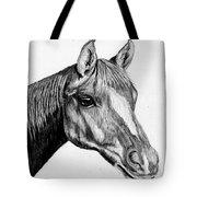 Charcoal Horse Tote Bag