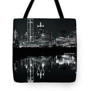 Charcoal Night In Dallas Tote Bag
