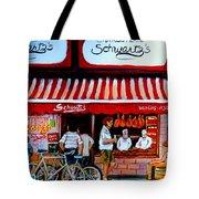 Charcuterie Schwartz's Deli Montreal Tote Bag