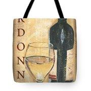 Chardonnay Wine And Grapes Tote Bag