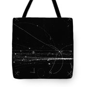 Charged Particles, Bubble Chamber Event Tote Bag