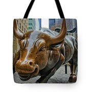 Charging Bull 4 Tote Bag