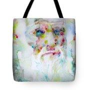 Charles Darwin - Watercolor Portrait.5 Tote Bag