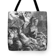Charles Martel, Battle Of Tours, 732 Tote Bag by Photo Researchers