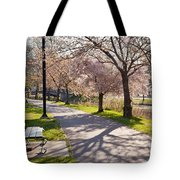 Charles River Cherry Trees Tote Bag