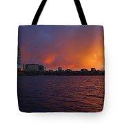 Charles River Vibrant Sunset Boston Ma Tote Bag