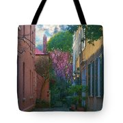 Charleston Alley In The Spring Tote Bag
