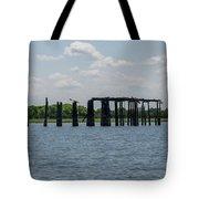 Charleston Export Coal Terminal Wooden Testle Tote Bag