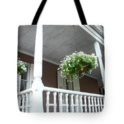 Charleston Historical District Front Porch Flowers - Charleston Homes Architecture Tote Bag