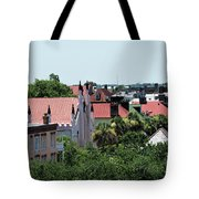 Charleston Rooftops - Queen And Church Streets Tote Bag
