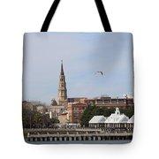 Charleston Skyline Tote Bag