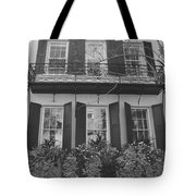 Charleston Style Home Black And White Tote Bag