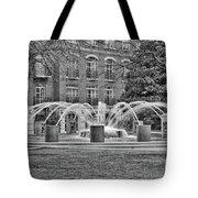 Charleston Waterfront Park Fountain Black And White Tote Bag