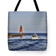 Charlevoix South Pier Light Tote Bag