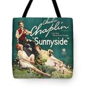 Charlie Chaplin In Sunnyside 1919 Tote Bag