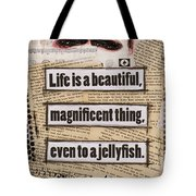 Charlie Chaplin Life Is Beautiful Tote Bag