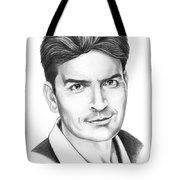 Charlie Sheen Tote Bag